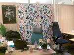 Min arbetsplats med väggbeklädnad