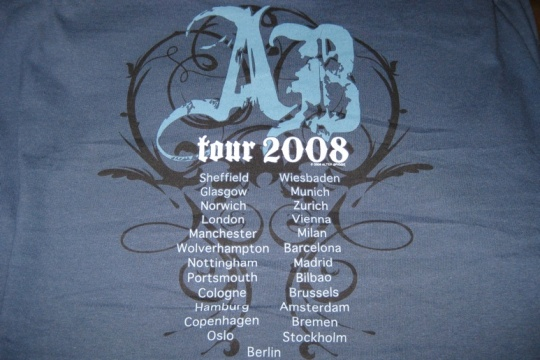 Min t-shirt, Alter Bridge Tour 2008 - rygg