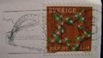 Julkort från Daniel-San 2008, frimärke + poststämpel