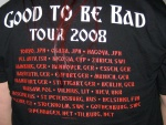 Whitesnake, Good to be bad Tour 2008 (back)