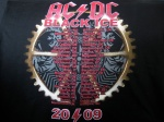 AC/DC-tshirt, Black Ice Tour - baksida