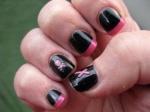 Piratnaglar i rosa och svart