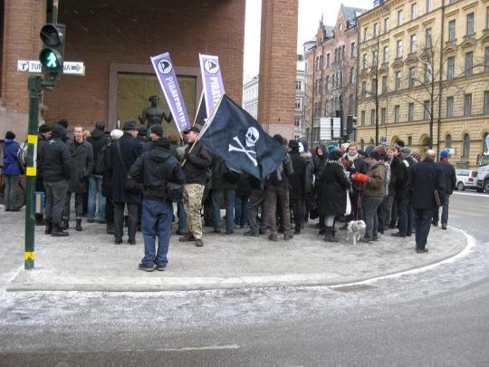 Utanför Stockholms tingsrätt