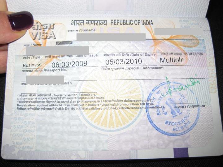 Visum, Republic of India