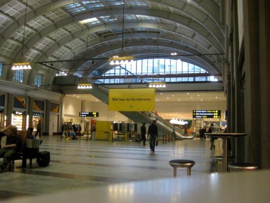 Röstningslokal på Centralstationen i Stockholm