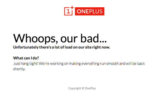 OnePlus: Whoops, our bad...