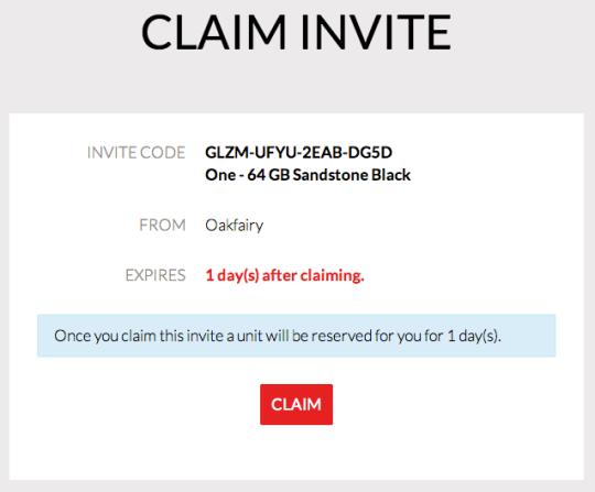 OnePlus: Claim Invite